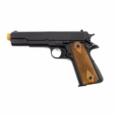 Valken Infinity 1911 Green Gas Non-Blowback Airsoft Pistol, Black/Wood