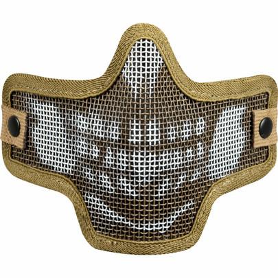 Valken Kilo Airsoft Mesh Mask - Skull, Tan