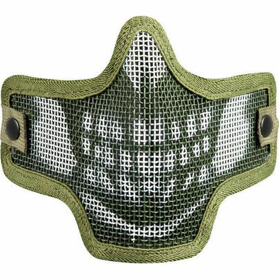 Valken Kilo Airsoft Mesh Mask - Skull, Olive