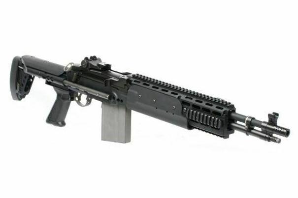 GandG GR14 EBR Short ETU Deans AEG Airsoft Rifle, Black