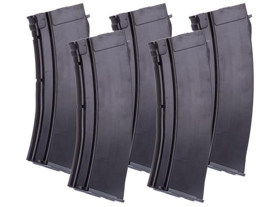 MAG 100 Round Mid-cap Magazine For AK Airsoft AEG Rifle, 5 Pack, Plum