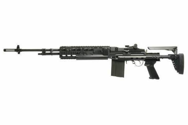 GandG GR14 EBR Long ETU Deans AEG Airsoft Rifle, Black