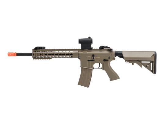 CYMA Sport M4 Carbine w/ 10 Keymod Handguard AEG Airsoft Rifle, Tan