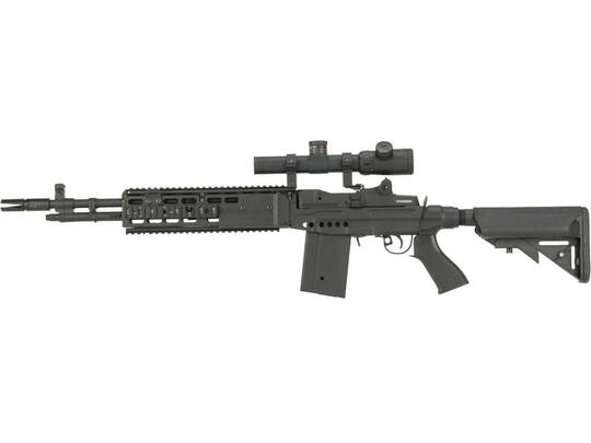 CYMA Sport Full Metal M14 EBR Designated Marksman AEG Airsoft Rifle, Black