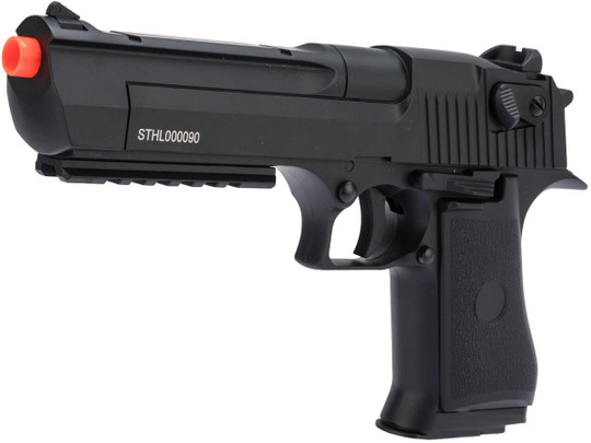 Desert Eagle Licensed Full Auto Select Fire Desert Eagle Airsoft AEP Pistol by CYMA, Black