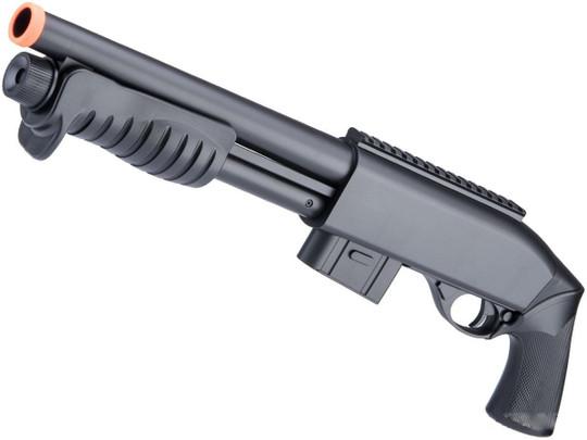 Double Eagle M401 Airsoft Spring Shotgun, Black