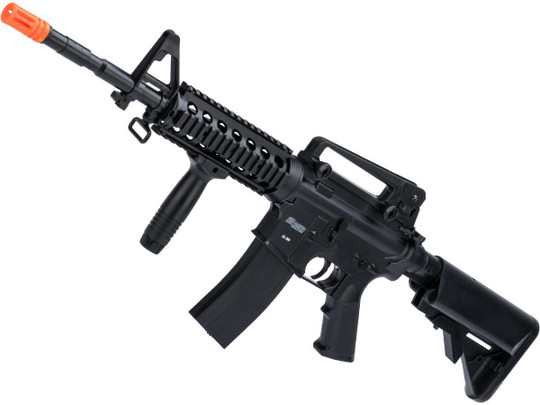 Sig Sauer Licensed Patrol Entry Level AEG Airsoft Rifle and 1911 Pistol Kit By Cybergun, Black