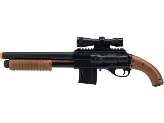 Mossberg Licensed M500 Magazine-Fed Airsoft Shotgun, Black