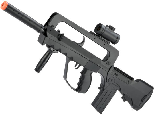 Cybergun Fully Licensed Famas Heavy Weight Spring Powered Airsoft Rifle, Black