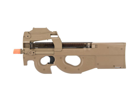 FN Herstal Licensed P90 AEG Airsoft Rifle w/ Built-In Red Dot, Dark Earth