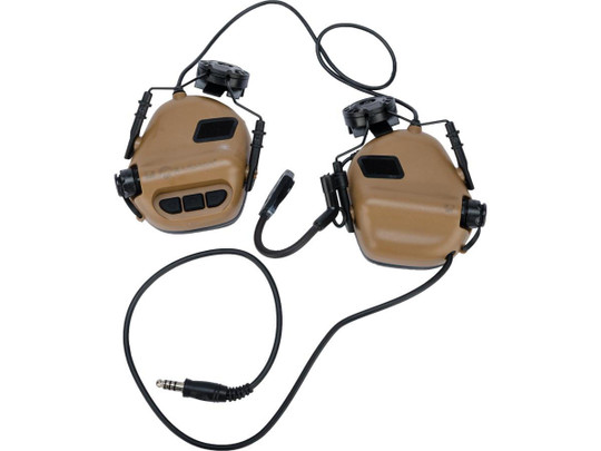 Earmor M32H MOD3 Tactical Communication Hearing Protector for ARC FAST MT Helmets, Coyote Brown