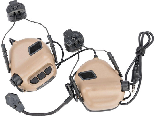 Earmor M32H MOD3 Tactical Communication Hearing Protector for ARC FAST MT Helmets, Tan