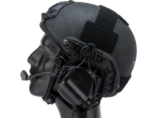 Earmor M32H MOD3 Tactical Communication Hearing Protector for ARC FAST MT Helmets, Black