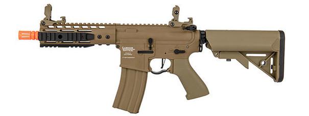 Lancer Tactical Proline 7 Keymod Rail w/ Picatinny M4 Carbine AEG Airsoft Rifle, Tan