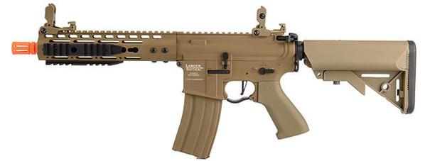 Lancer Tactical Proline 9 Keymod Rail w/ Picatinny M4 Carbine AEG Airsoft Rifle, Tan