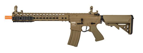 Lancer Tactical Proline 12 Keymod Rail w/ Picatinny M4 Carbine AEG Airsoft Rifle, Tan