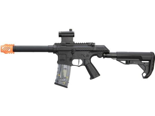 GandG SSG-1 USR Airsoft AEG Rifle w/ Variable Angle Stock and ETU MOSFET, Black
