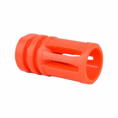 Valken A2 Birdcage Molded Orange Flash Hider - 14mm CCW