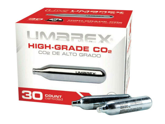 Umarex 12 Gram CO2 30 Cartridges - GROUND SHIPPING ONLY
