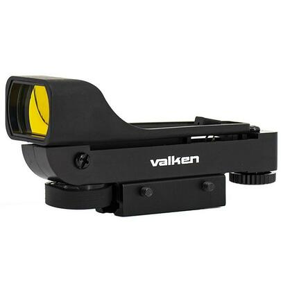 Valken Molded Red Dot Sight w/ Dual Mounts, Black