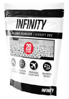 Valken Infinity 6mm BIO Airsoft BBs, 0.20g, 5000 rounds