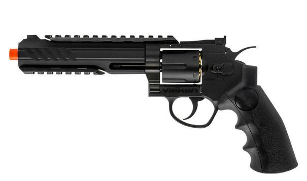 Valken 6 CO2 Powered Airsoft Revolver, Black