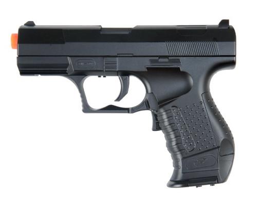 Double Eagle M202A Electric Blowback Airsoft Pistol, Black