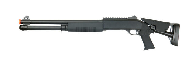 Double Eagle M56DL Tri-Shot Spring Shotgun Long Barrel Retractable Stock