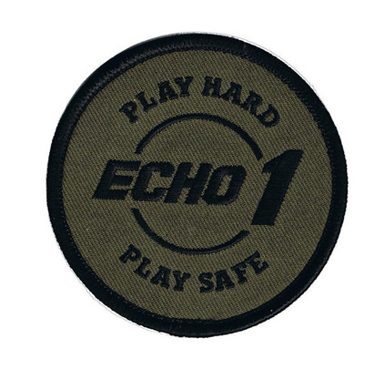 Echo 1 Play Hard Play Safe Patch - Round