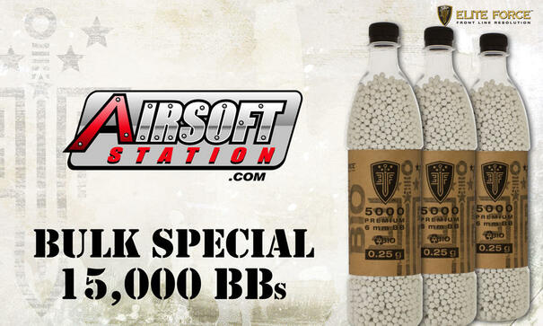 Elite Force Biodegradable Airsoft BBs, 0.25g, 15K Bulk Deal