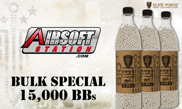 Elite Force Biodegradable Airsoft BBs, 0.28g, 15K Bulk Deal