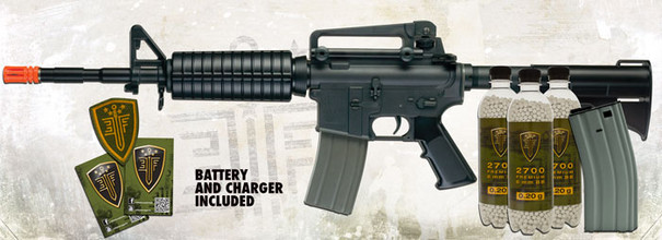 Elite Force M4 Carbine Black Airsoft Rifle Kit