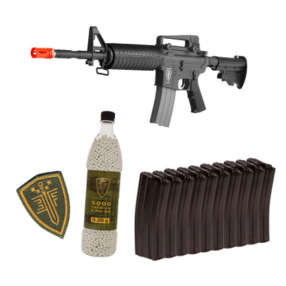 Elite Force M4A1 AEG Rapid Assault Kit w/ 10 Midcap Mags and 5,000 BBs