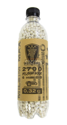 Elite Force Milsim Max Biodegradable Airsoft BBs, 0.32g, 2700 Rounds, White