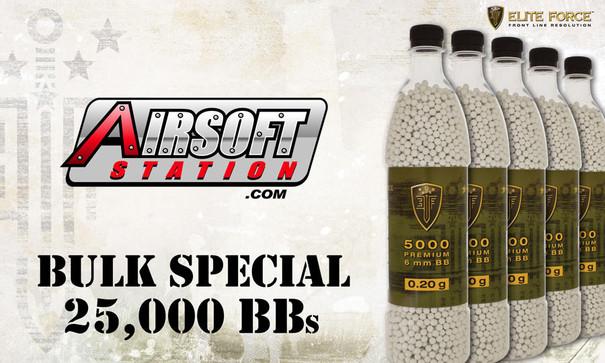 Elite Force Premium BBs, 0.20g, 25K Bulk Deal