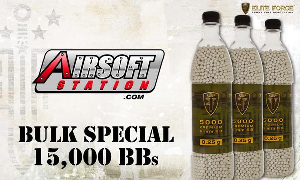 Elite Force Premium BBs, 0.25g, 15K Bulk Deal