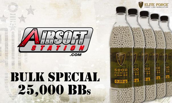 Elite Force Premium BBs, 0.25g, 25K Bulk Deal