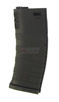 GandG 120R Mid-Cap Magazine for GR16/M4 AEGs, Black