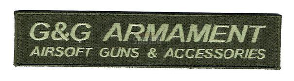 GandG Armament Official Velcro Patch, Long, OD