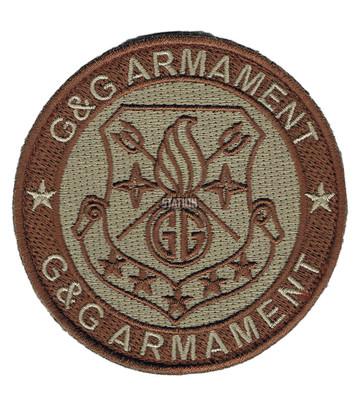 GandG Armament Official Velcro Patch, Round, Tan