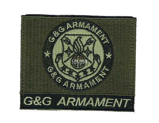 GandG Armament Official Velcro Patch, Square, OD