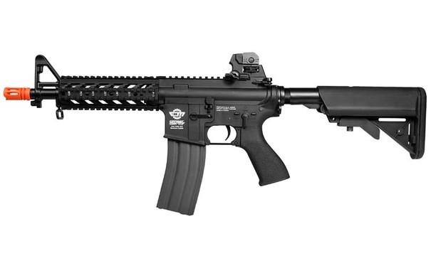 G&G CM16 Raider Short Black High Velocity Version Airsoft Rifle - left side view