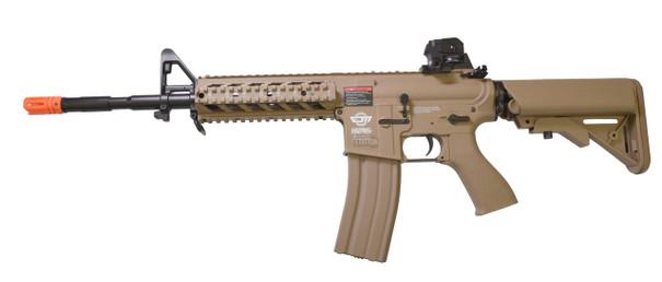GandG Combat Machine CM16 Raider-L AEG Airsoft Rifle, Tan