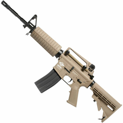 G&G Combat Machine CM16 Carbine, Gas Blowback Airsoft Rifle, Tan, Version II