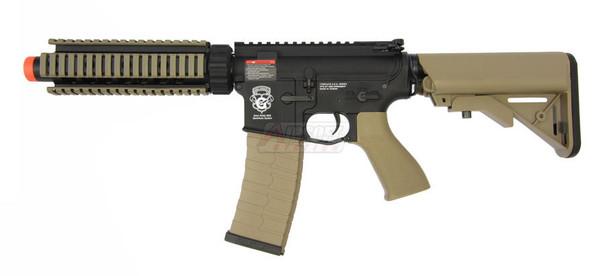 GandG GR4 CQB-S MINI Black and Tan Two-Tone Blowback Airsoft Rifle