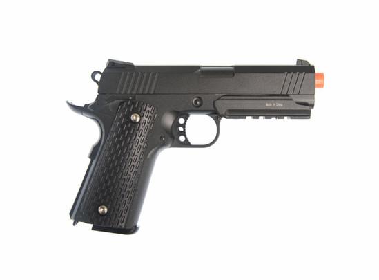 Full Metal 1911 Warrior Spring Pistol, Black