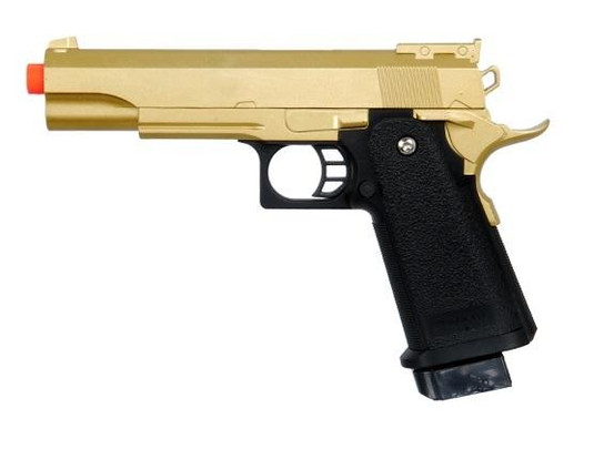Galaxy G6 Full Metal 1911 Style Airsoft Pistol, Gold