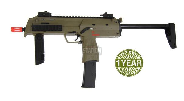 HandK MP7A1 Gas Blowback Airsoft Gun by KWA, Dark Earth/Tan