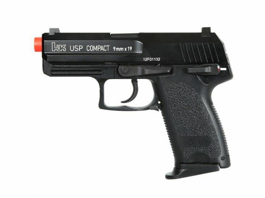 HandK USP Compact Gas Blowback Airsoft Pistol, Full Metal by KWA