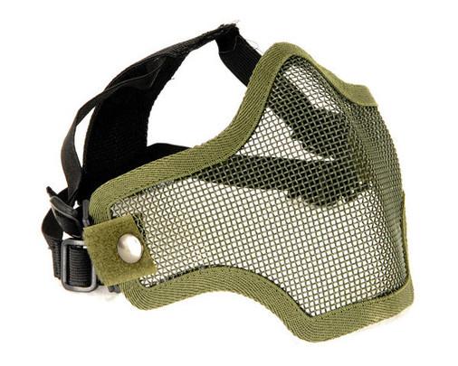 2G Steel Mesh Half Face Mask, OD Green